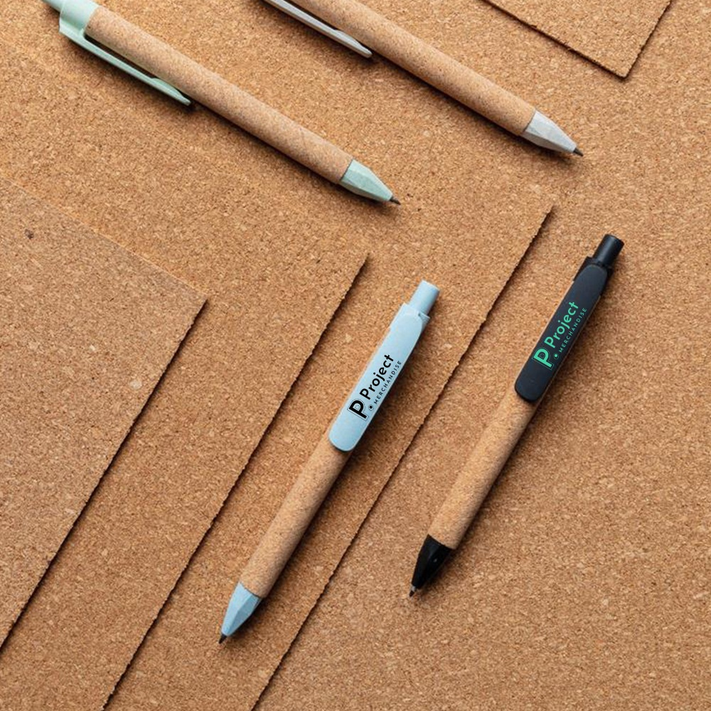sustainable-cork-pens-on-matching-cork-background