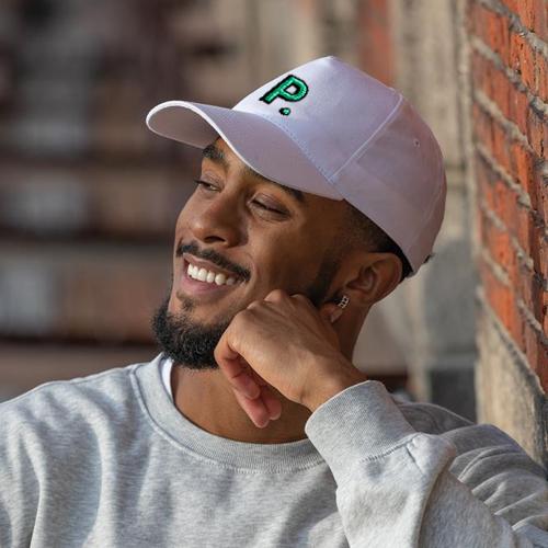 man-wearing-recycled-baseball-cap